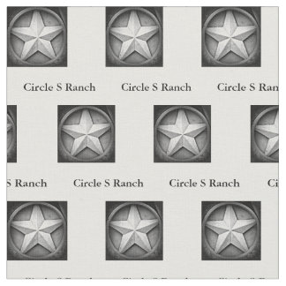 Rustic Texas Lonestar Personalized Fabric