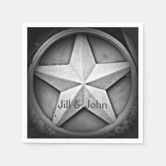 Rustic Texas Lonestar Personalized Paper Napkin