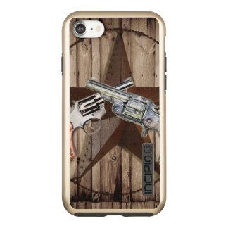 rustic texas star cowboy western country dual gun incipio DualPro shine iPhone 8/7 case