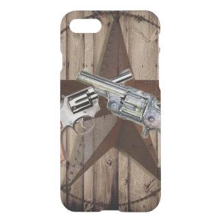 rustic texas star cowboy western country dual gun iPhone 8/7 case