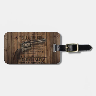 rustic texas star cowboy western country dual gun luggage tag