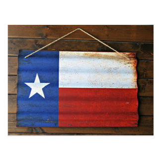 Rustic Texas State Flag Sign Postcard