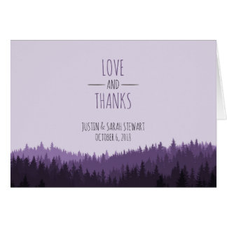 Rustic Thank You card for a Mountain wedding