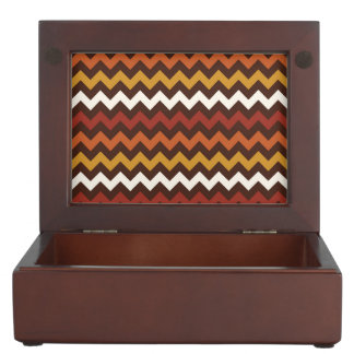Rustic Thanksgiving Holiday Fall Autumn Chevron Keepsake Box