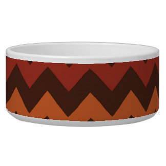 Rustic Thanksgiving Holiday Fall Autumn Chevron Pet Food Bowl