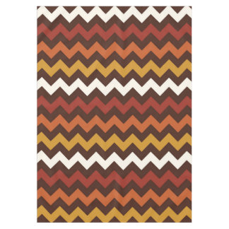 Rustic Thanksgiving Holiday Fall Autumn Chevron Tablecloth