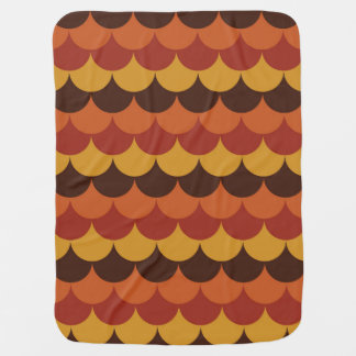 Rustic Thanksgiving Holiday Fall Autumn Colorful Baby Blanket