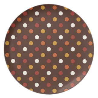 Rustic Thanksgiving Holiday Fall Autumn Colorful Dinner Plate