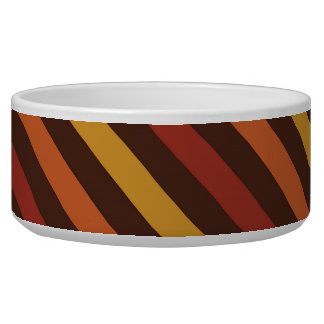 Rustic Thanksgiving Holiday Fall Autumn Colorful Dog Water Bowl