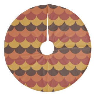 Rustic Thanksgiving Holiday Fall Autumn Colorful Fleece Tree Skirt