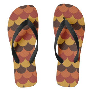 Rustic Thanksgiving Holiday Fall Autumn Colorful Flip Flops