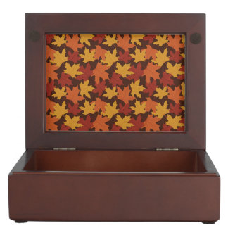 Rustic Thanksgiving Holiday Fall Autumn Colorful Keepsake Box