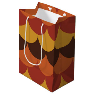 Rustic Thanksgiving Holiday Fall Autumn Colorful Medium Gift Bag