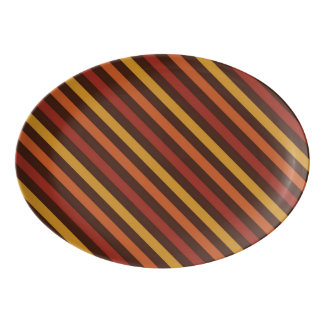 Rustic Thanksgiving Holiday Fall Autumn Colorful Porcelain Serving Platter