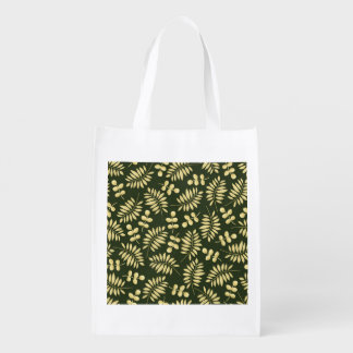 Rustic Thanksgiving Holiday Fall Autumn Colorful Reusable Grocery Bags