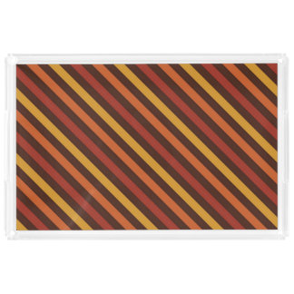 Rustic Thanksgiving Holiday Fall Autumn Colorful Serving Tray