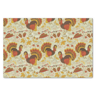 Rustic Thanksgiving Holiday Fall Autumn Colorful Tissue Paper