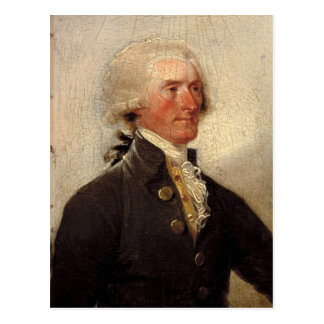 Rustic Thomas Jefferson Painting Postcard