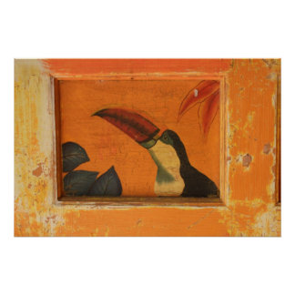 Rustic Toucan Poster1 Poster