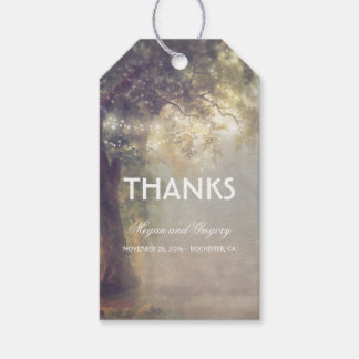 Rustic Tree and String Lights Dreamy Wedding Gift Tags