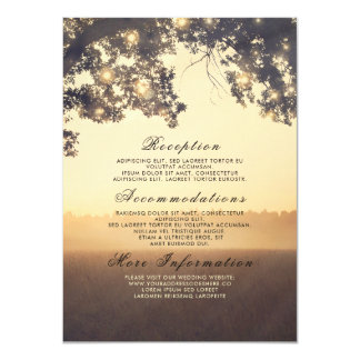 Rustic Tree Branches Dreamy Wedding Details Insert Card