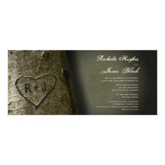 Rustic Tree Carving Invitation