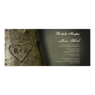 Rustic Tree Carving Invitation