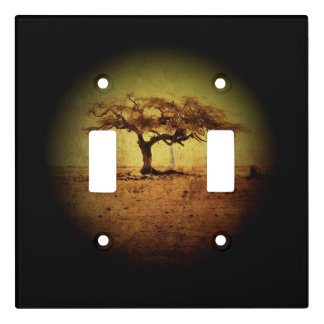 Rustic Tree Light Switch Cover