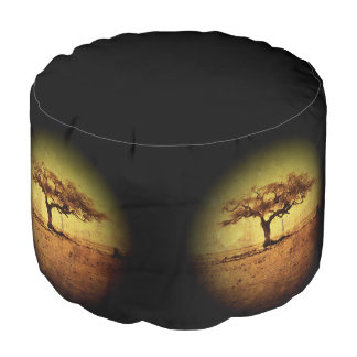 Rustic Tree Pouf
