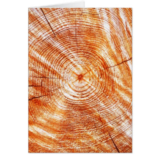 Rustic Tree Rings Wood Design Gifts Card