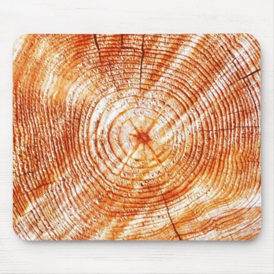 Rustic Tree Rings Wood Design Gifts Mouse Pad
