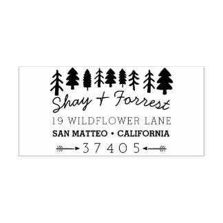 Rustic Trees Return Address Stamp