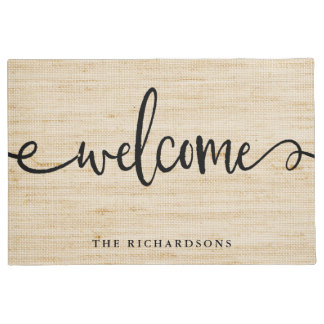 Rustic Trendy Typography | Welcome Doormat