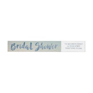 Rustic Tropical Beach Bridal Shower Wraparound Return Address Label