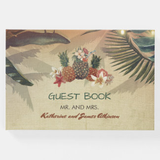 Rustic Tropical Beach Wedding Guest Book