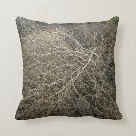 Rustic Tumbleweed Throw Pillow