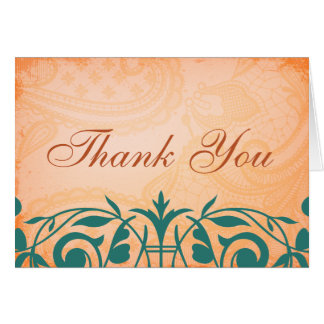 Rustic, Tuscan Teal Thank You Cards