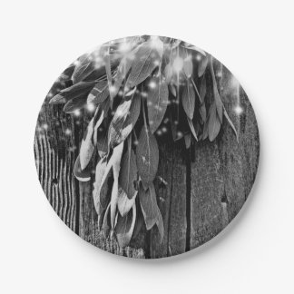 Rustic twinkle light   Sage Paper Plate