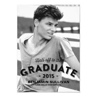 Rustic Typography   Photo Graduation Invitation