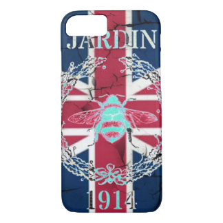Rustic Union Jack Flag queen jubilee french bee iPhone 8/7 Case