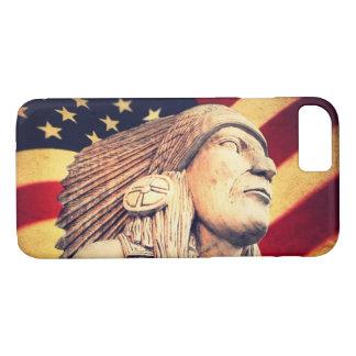 Rustic USA flag patriotic Native American iPhone 7 Case