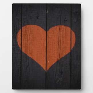 Rustic Valentines Red Heart Black Wood Outhouse Plaque