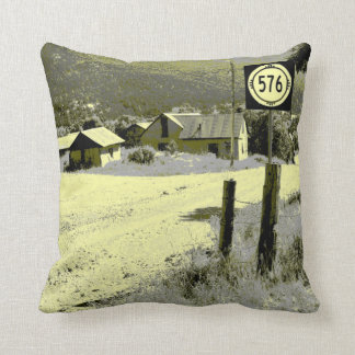 Rustic Village Throw Pillow