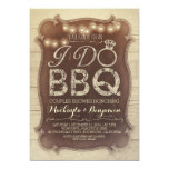 "rustic vintage BBQ couples shower invitation 5"" X 7"" Invitation Card"