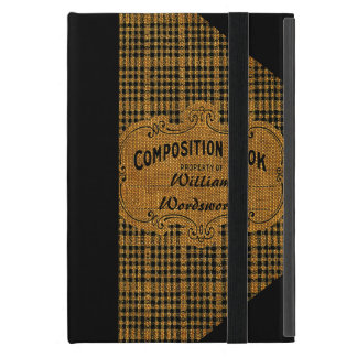 Rustic Vintage Composition Book iPad Mini Case