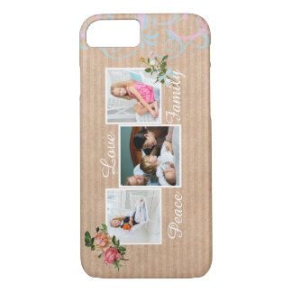 Rustic Vintage Floral Family Photo iPhone 7 Case