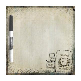 Rustic Vintage Grain Sacks   Farm Theme Dry Erase Board