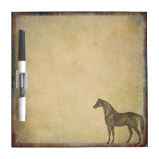 Rustic Vintage Horse   Barnyard   Farm Animals Dry Erase Board