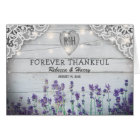 Rustic Vintage Lavender Wedding Thank You Card