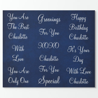 Rustic Vintage Marine White Velvet Personalized Wrapping Paper